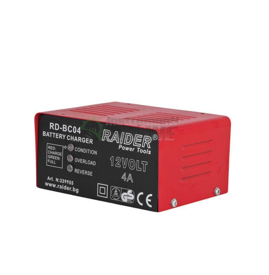 Зарядно за акумулатор, 12V, 4A, RD-BC04, Raider, зарядно, акумулатор