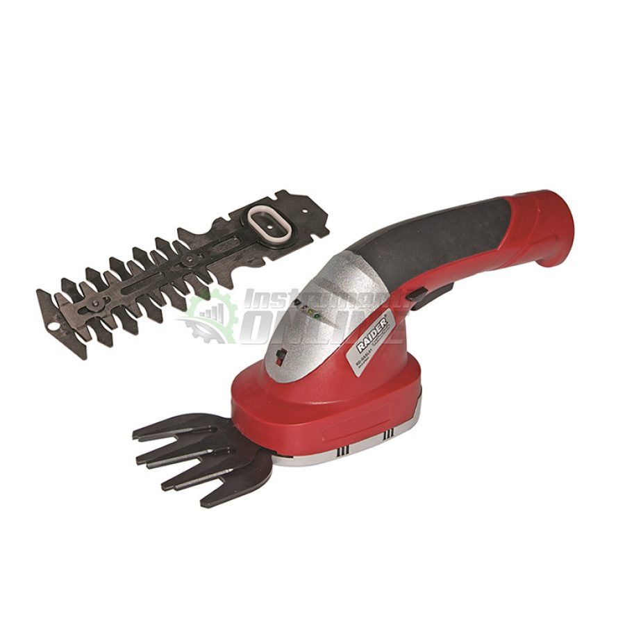 Акумулаторна, ножица, за трева, храсти, Li-ion, 7.5 V, 1.5 Ah, RD-GSSL02, Raider