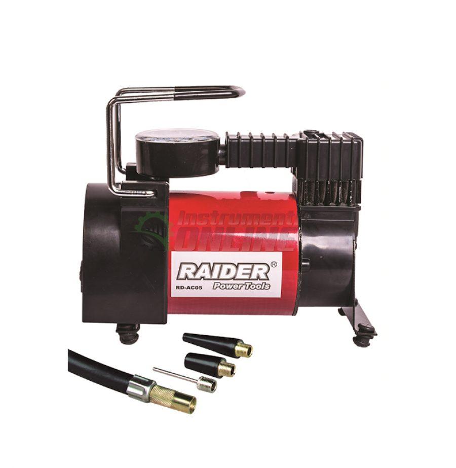 Компресор, аксесоари, 12 V, DC метален, 120 W, 35 L, RD-AC05, Raider