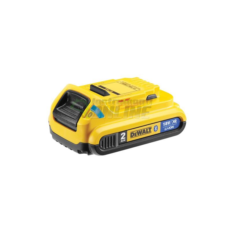 Батерия акумулаторна Li-Ion с Bluetooth, 18.0 V, 2.0 Ah, DeWALT, батерия, батерия акумулаторна, батерия Li-Ion, батерия с Bluetooth