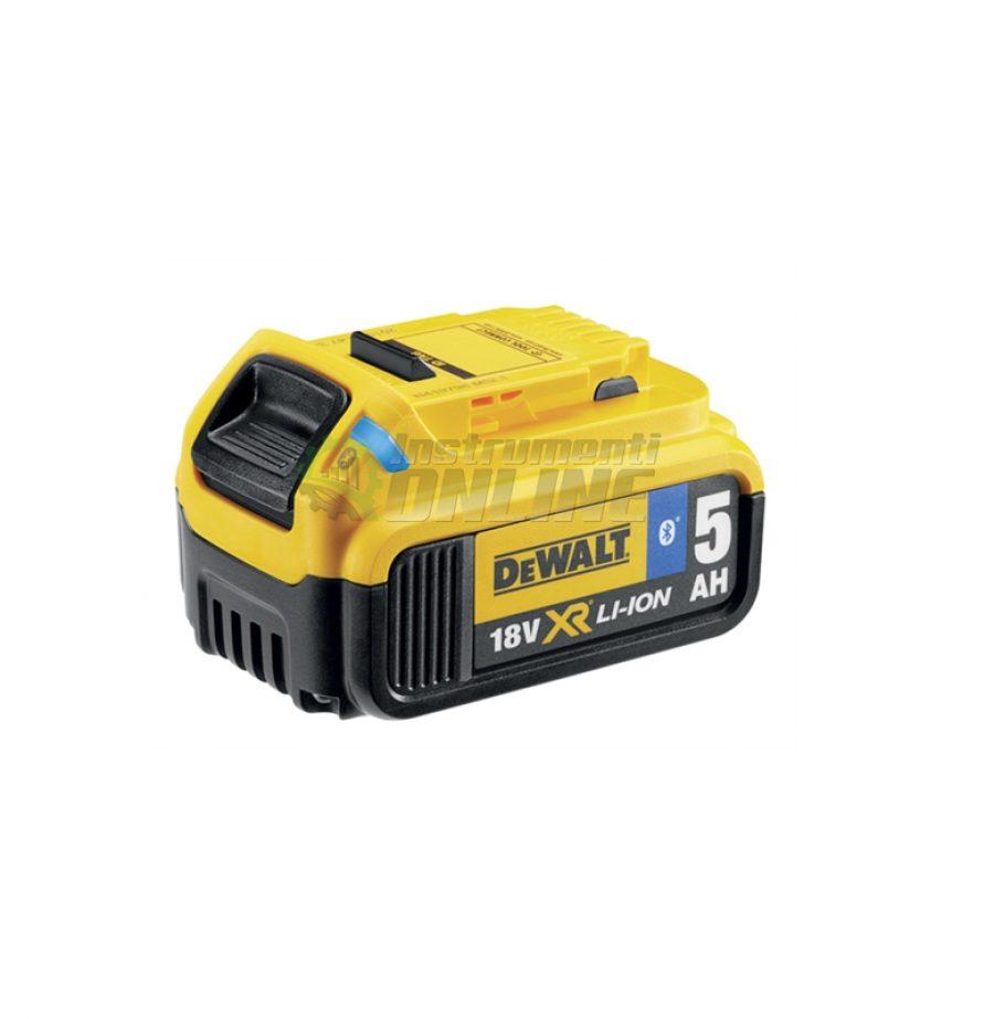 Батерия акумулаторна Li-Ion с Bluetooth, 18.0 V, 5.0 Ah DeWALT, батерия, акумулаторна батерия, батерия Li-Ion, батерия с Bluetooth