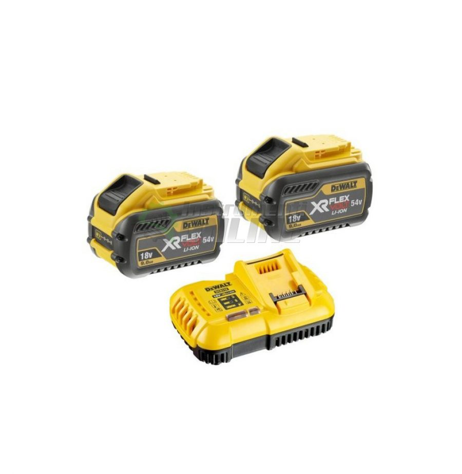 К-кт батерия акумулаторна и зарядно устройство, Li-Ion, 2 x 54.0/18.0 V, 2.0/6.0 Ah, DeWALT, батерия, акумулаторна батерия, зарядно устройство, комплект батерия и зарядно