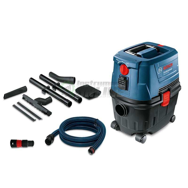Професионална, прахосмукачка, сухо, мокро почистване, 1 100 W, GAS 15 PS, Bosch