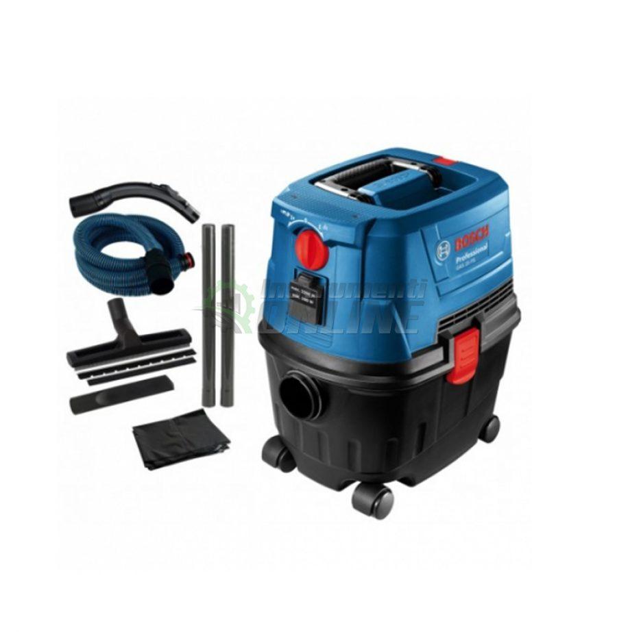 Професионална, прахосмукачка, сухо почистване, мокро почистване, GAS 15, 1 100 W, Bosch