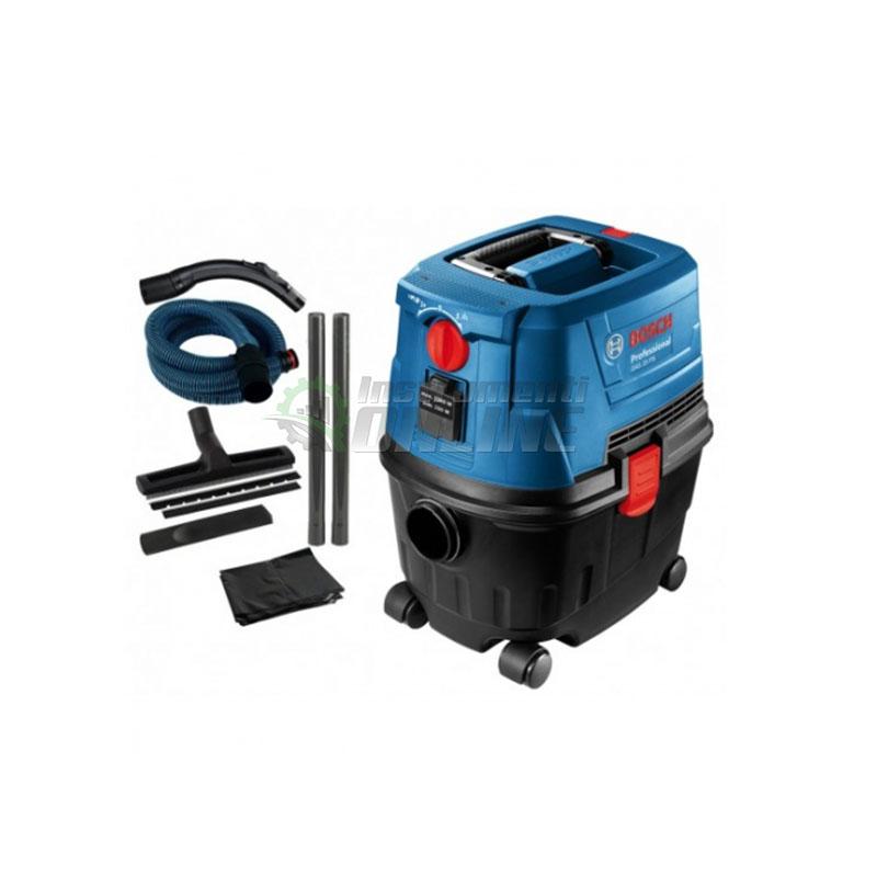 Професионална, прахосмукачка, сухо, мокро, почистване, GAS 15, 1100 W, Bosch