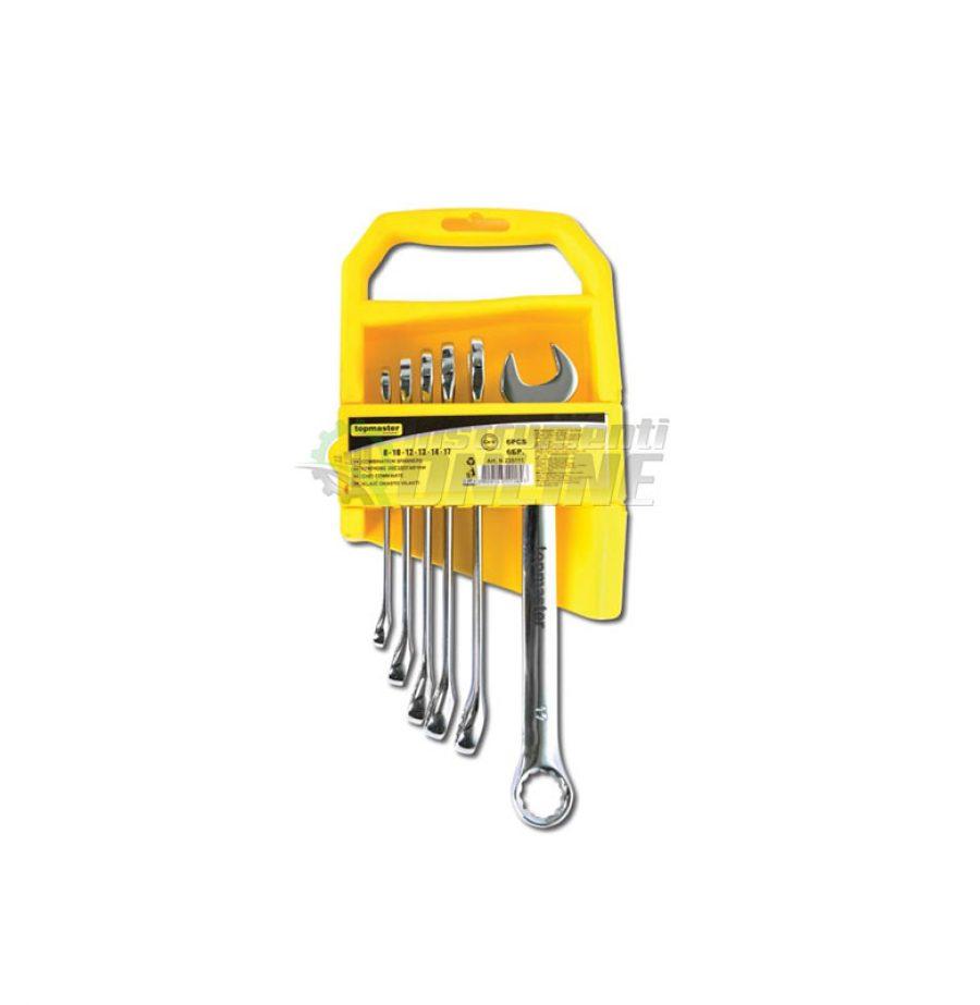 Комплект, 6 броя, ключове, тресчотка, DOUBLE, Topmaster, Professional