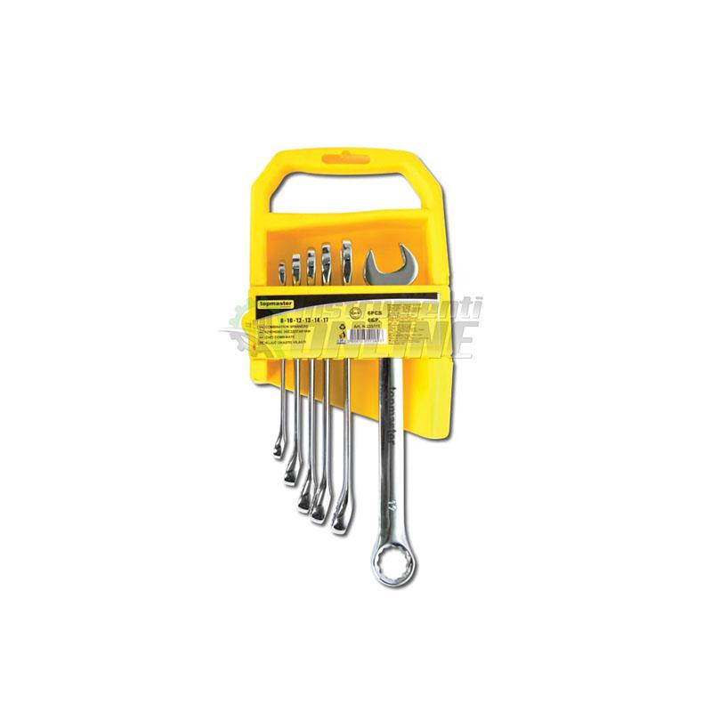 Комплект от 6 броя ключове с тресчотка DOUBLE  Topmaster Professional