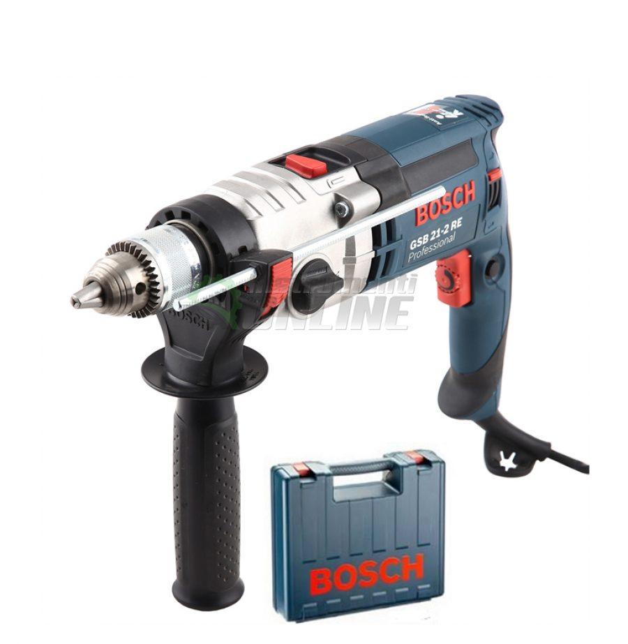 Ударна бормашина Bosch, GSB 21-2 RE, 1100 W, с куфар, ударна бормашина, бормашина, бормашина Bosch
