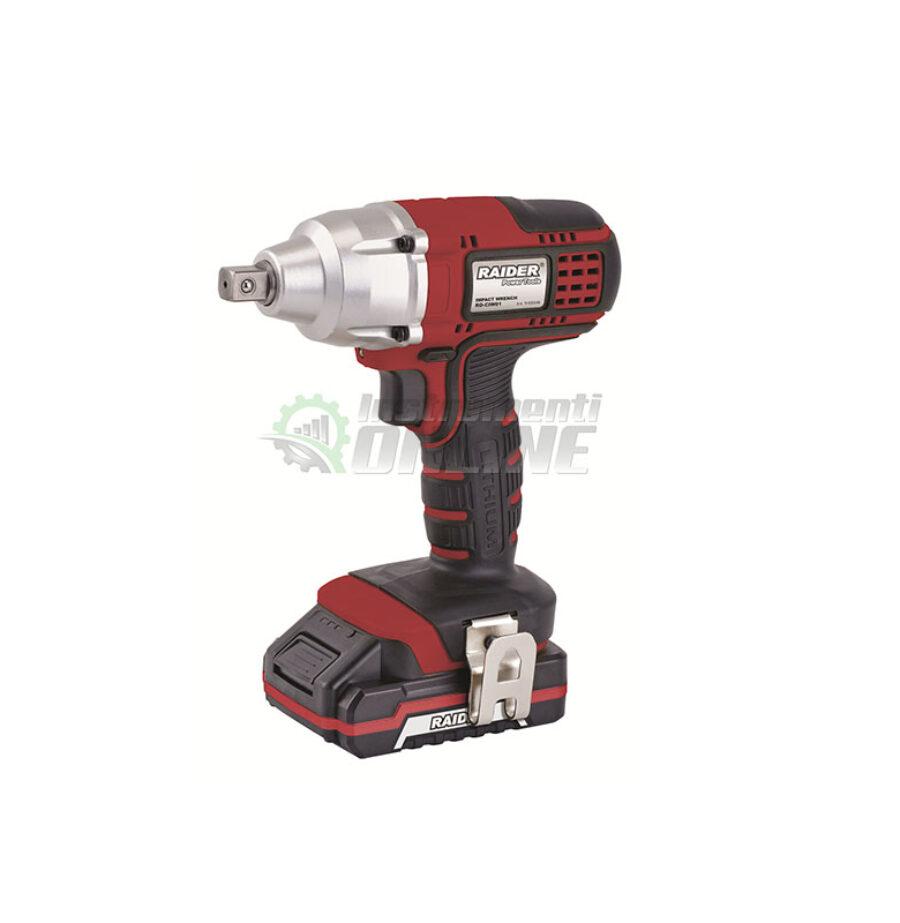 гайковерт, гайковерт raider, Акумулаторен гайковерт, 18 V, 320 Nm, 1.5 Ah, RD-CIW01, RAIDER