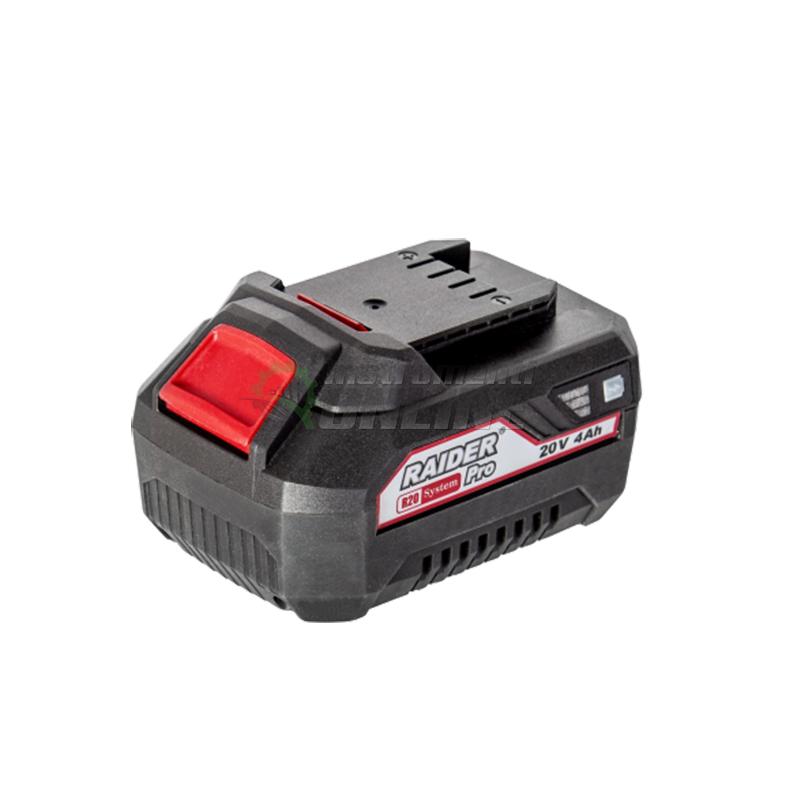 Акумулаторна батерия, Li-Ion, RDP-R20, System, 20 V, 4 Ah, Raider