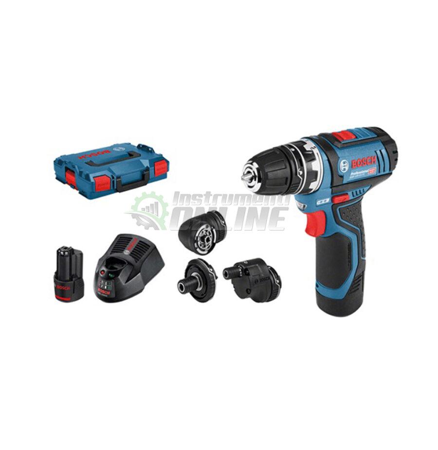 Акумулаторен винтоверт, 2x 2,0 Ah батерии, 12 V, GSR 12V-15 FC, Bosch, акумулаторен винтоверт Bosch, винтоверт Bosch