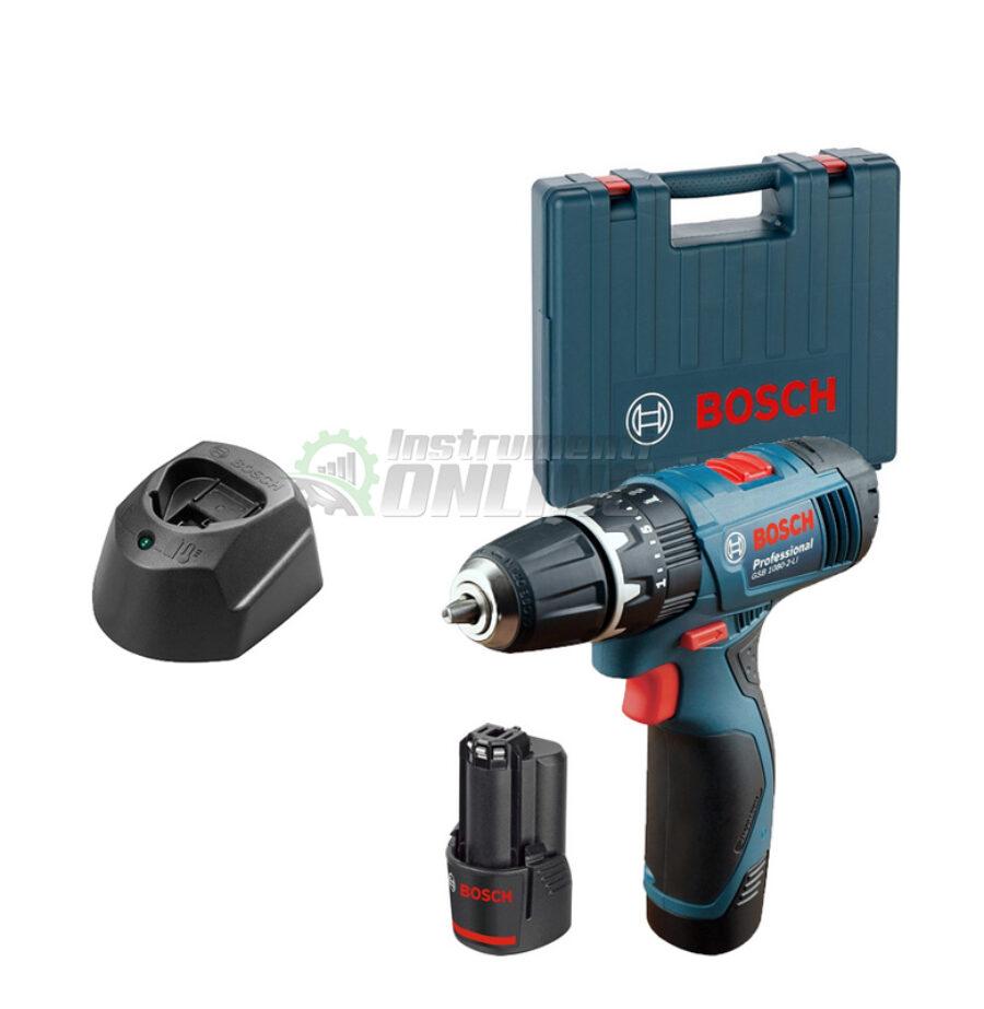 Акумулаторна ударна бормашина, 2x 1.5Ah, куфар, GSB 120-LI, Bosch Professional, акумулаторна бормашина Bosch, бормашина Bosch