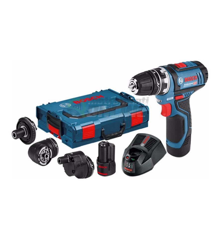 Акумулаторен винтоверт, 2x 2,0 Ah батерии, L-Boxx, GSR 12V-15 FC, Bosch, акумулаторен винтоверт Bosch, винтоверт Bosch