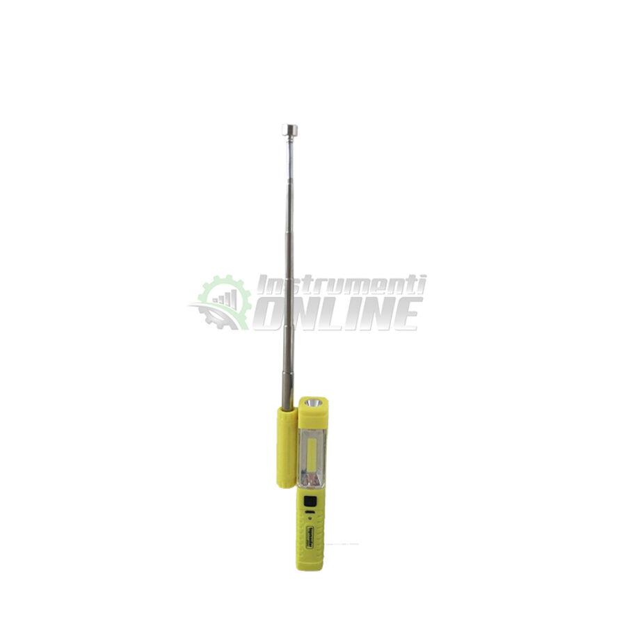 Акумулаторна лампа, диодна лампа, телескопичен магнит, 230 мм, Topmaster, Professional
