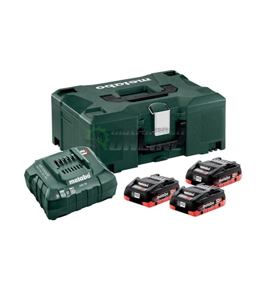 Базов, акумулаторен комплект, 18 V, ASC, 30-36, 4.0 Ah, LiHD, Metaloc II, Metabo