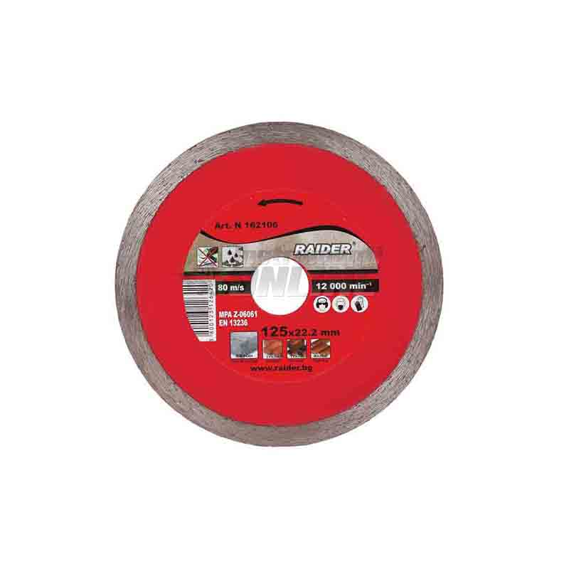Диамантен диск, диск raider, диск WET, 85 x 10 мм, Raider