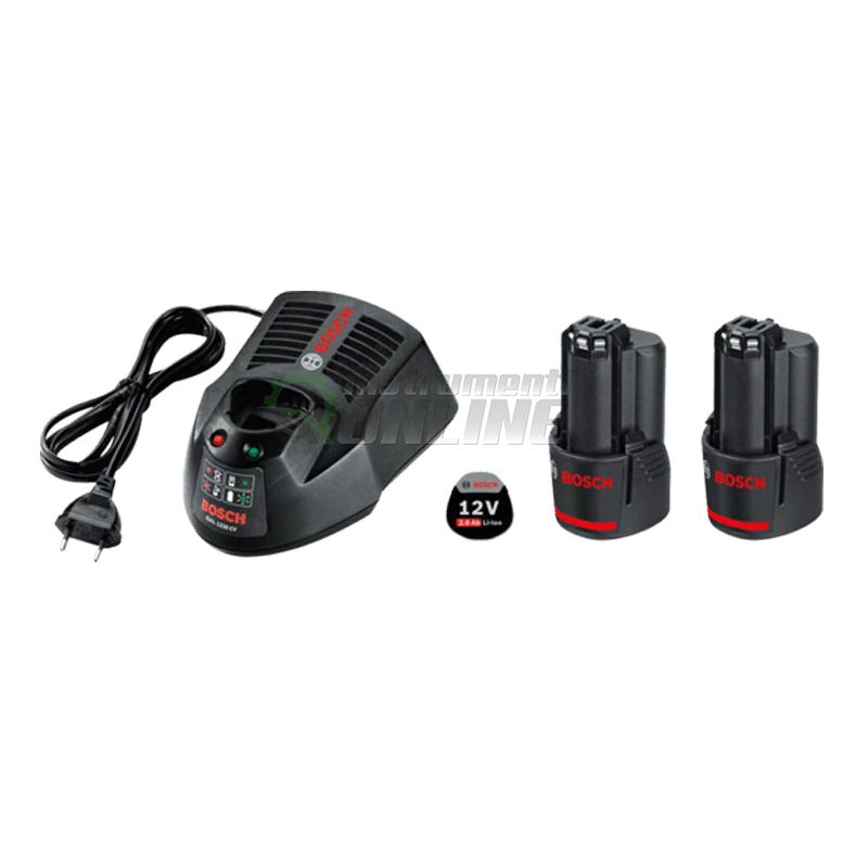 Комплект батерия и зарядно, акумулаторна батерия, 12 V, 2.0 Ah, Bosch GBA, GAL 1230 CV, акумулаторна батерия Bosch, батерия Bosch, зарядно Bosch
