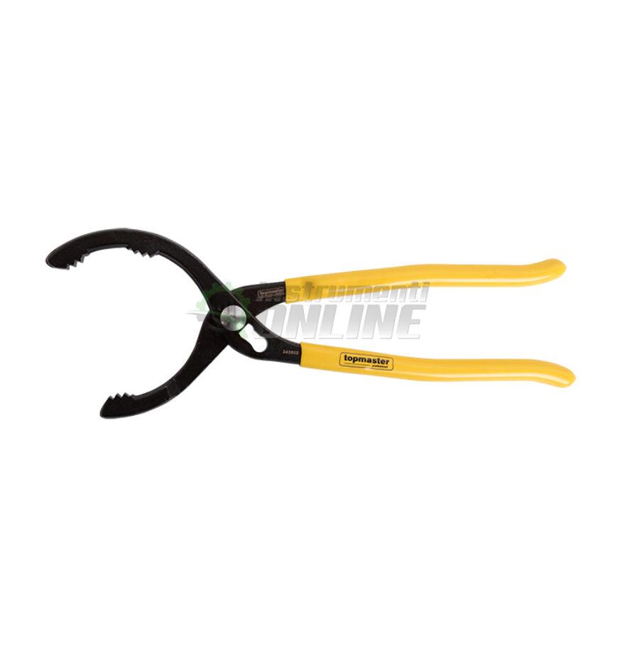 клещи, Клещи за маслен филтър, 290 мм, 63-108 мм, Topmaster, Professional