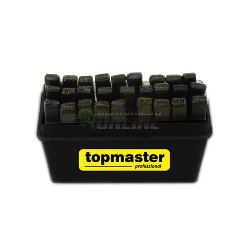 Комплект, 27 броя, стоманени букви, хром, 1.5 мм - 12.5 мм, Topmaster, Professional
