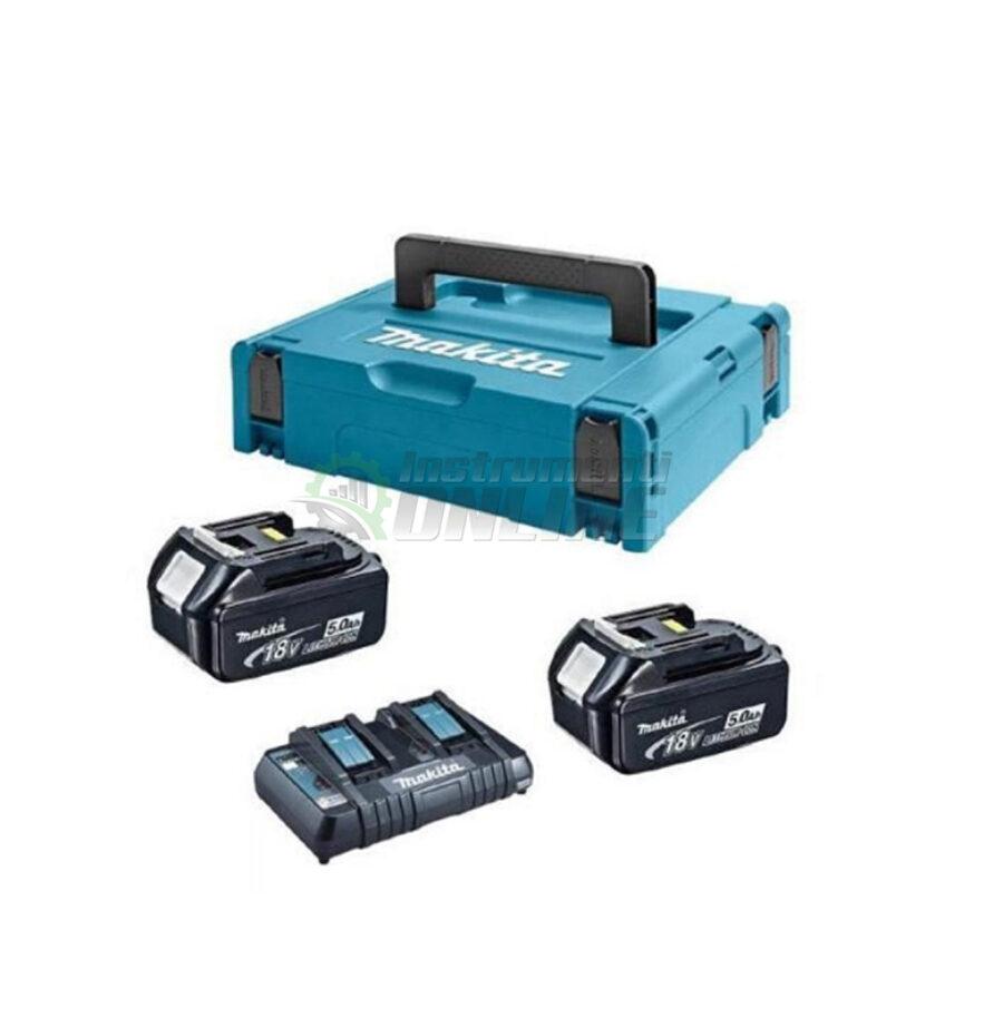 Комплект, MAKPAC 3, зарядно устройство, батерии, BL1850Bx2, DC18RD, Makita