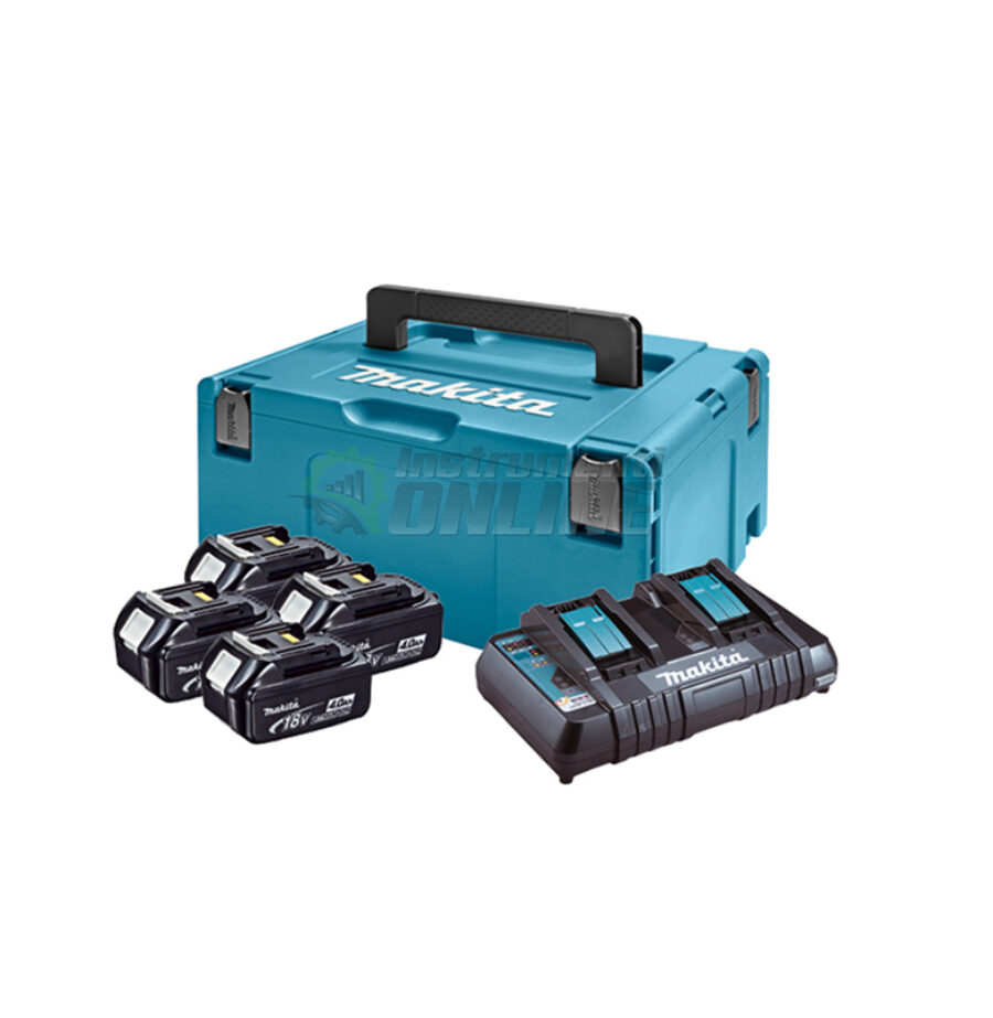 Комплект, MAKPAC, батериия, зарядно устройство, BL1840x4, DC18RD, Makitta