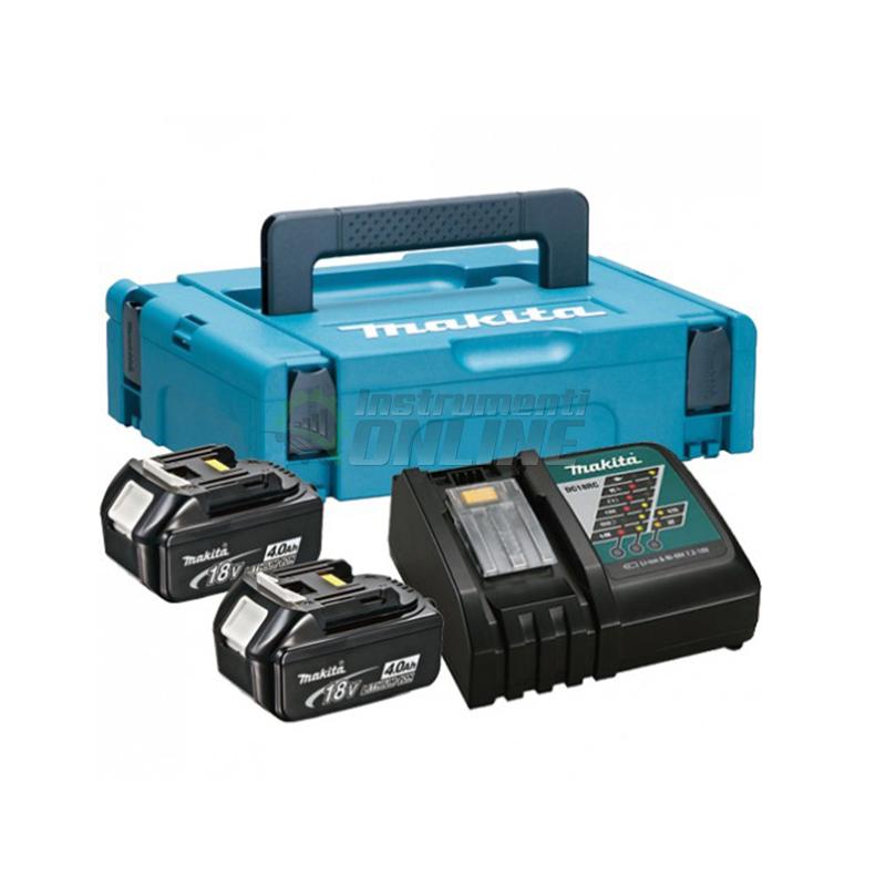 Комплект, MAKPAC, батериия, зарядно устройство, BL1840x2, DC18RC, Makitta