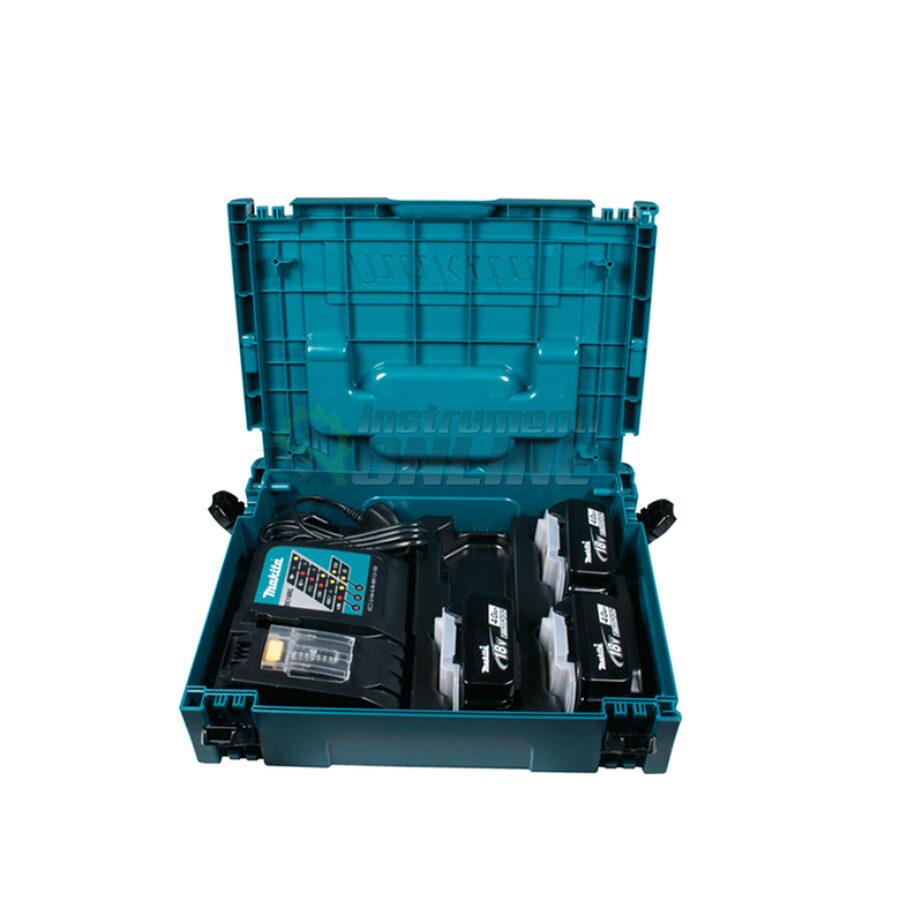 Комплект, MAKPAC, батериия, зарядно устройство, BL1840x3, DC18RC, Makitta