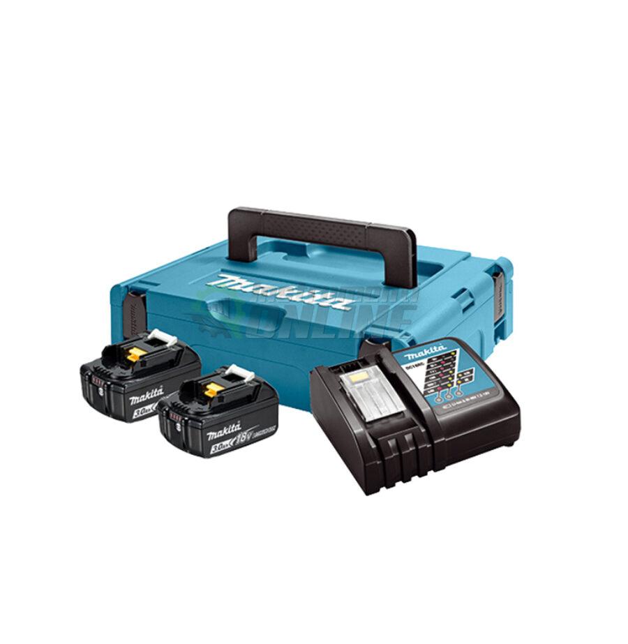 Комплект, MAKPAC, зарядно устройство, батерии, BL1830x2, DC18RC, Makita