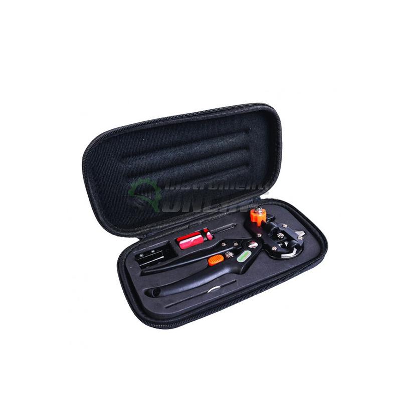 Комплект ножица за ашладисване с три приставки в несесер Top Garden Premium