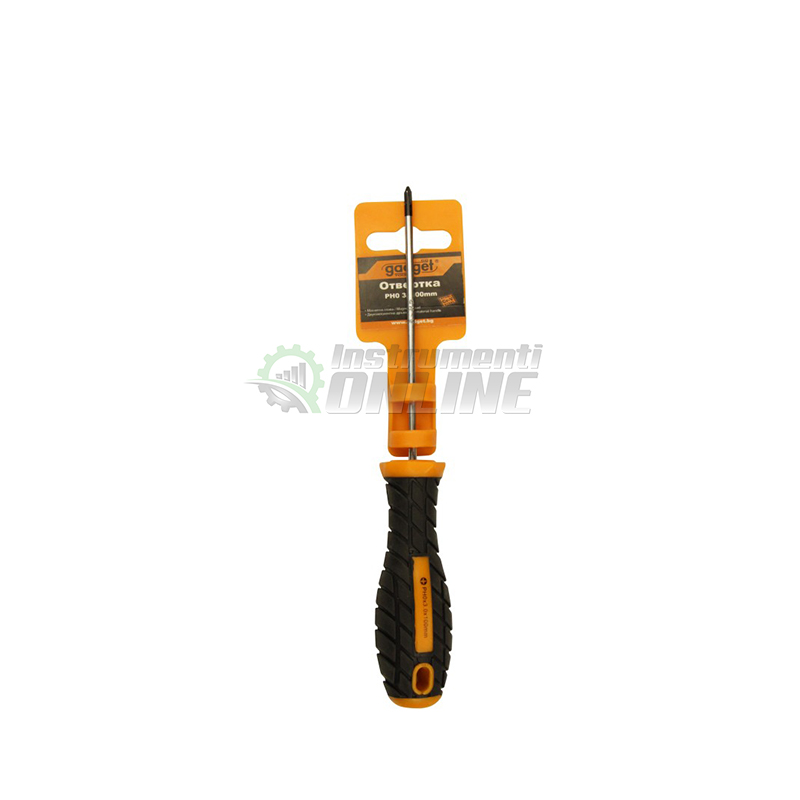 Кръстата отвертка, двукомпонентна дръжка, PH1, 5 x 100 мм, Gadget, отвертка,
