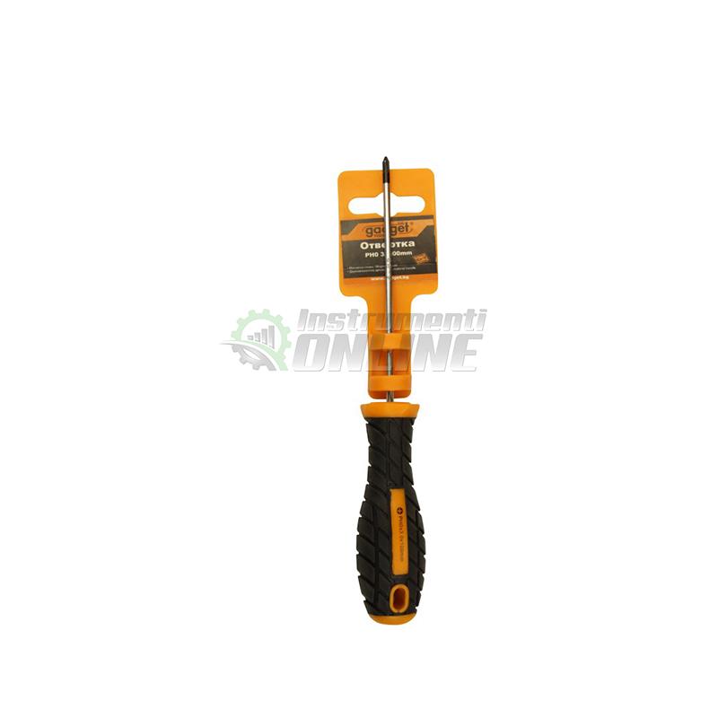 Кръстата отвертка, двукомпонентна дръжка, PH2, 6 x 125 мм, Gadget, отвертка,