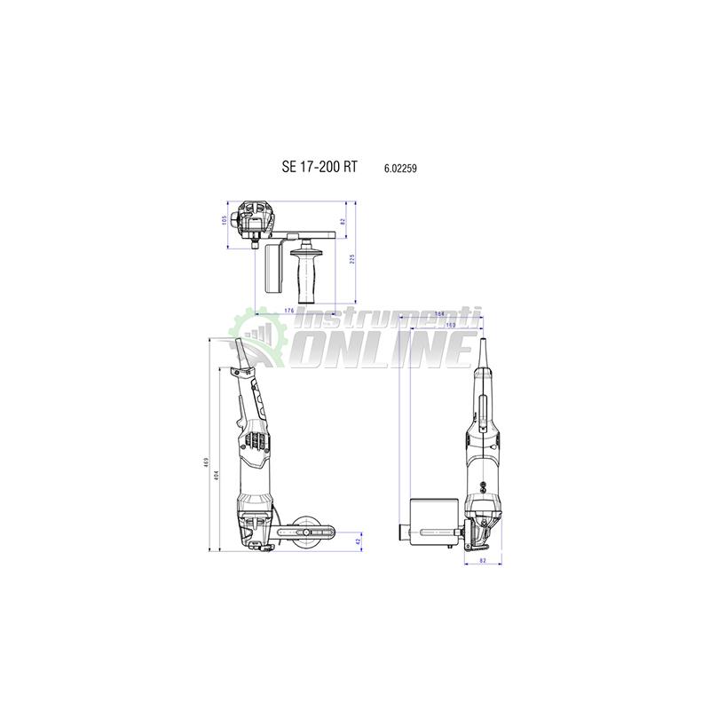 Сатинираща машина, полираща машина, 1700W, SE 17-200, Metabo