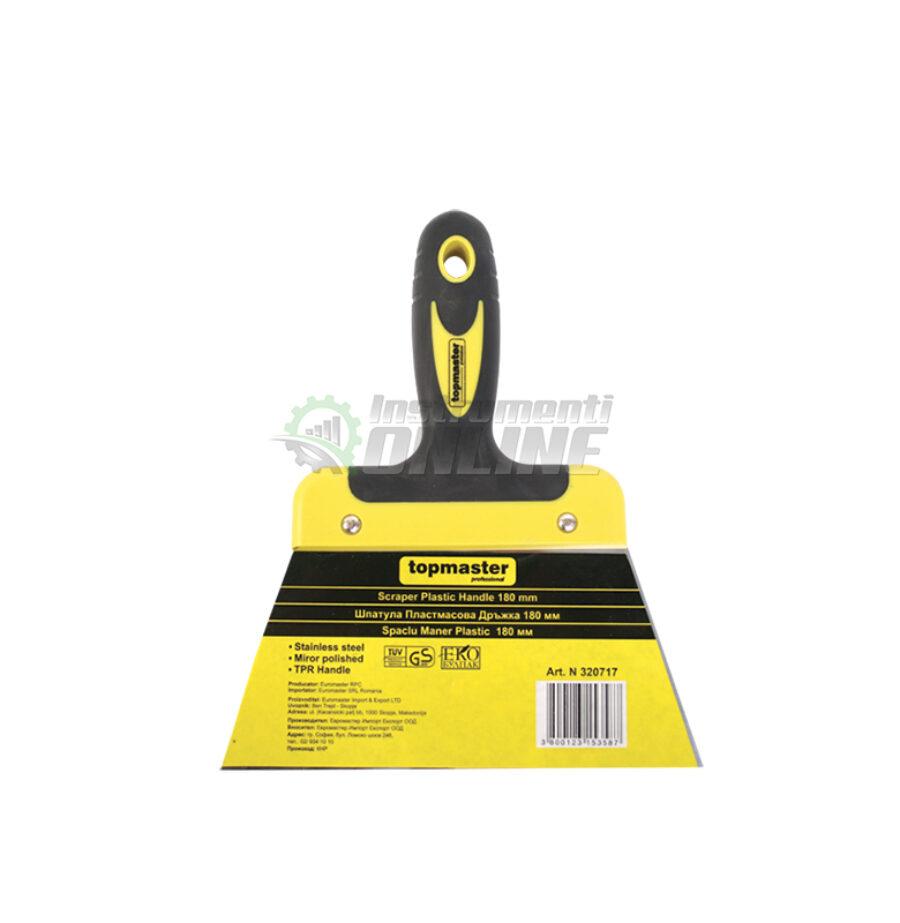 Шпакла, пластмасова дръжка, 160 мм, Topmaster, Professional