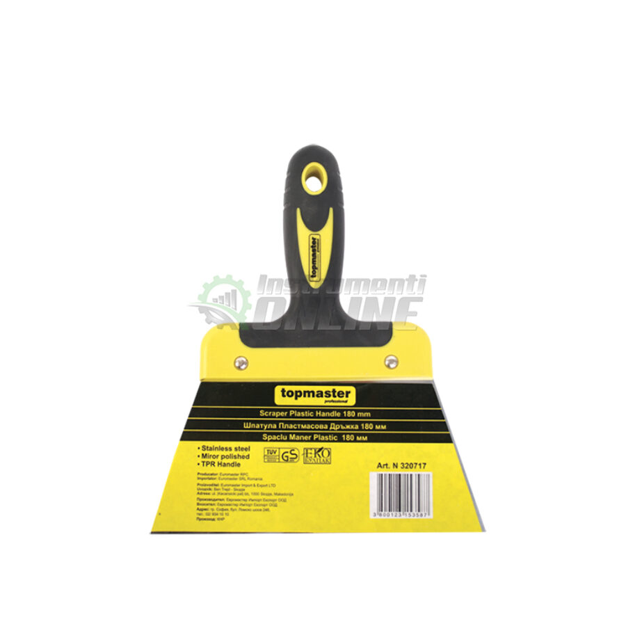 Шпакла, пластмасова дръжка, 180 мм, Topmaster, Professional