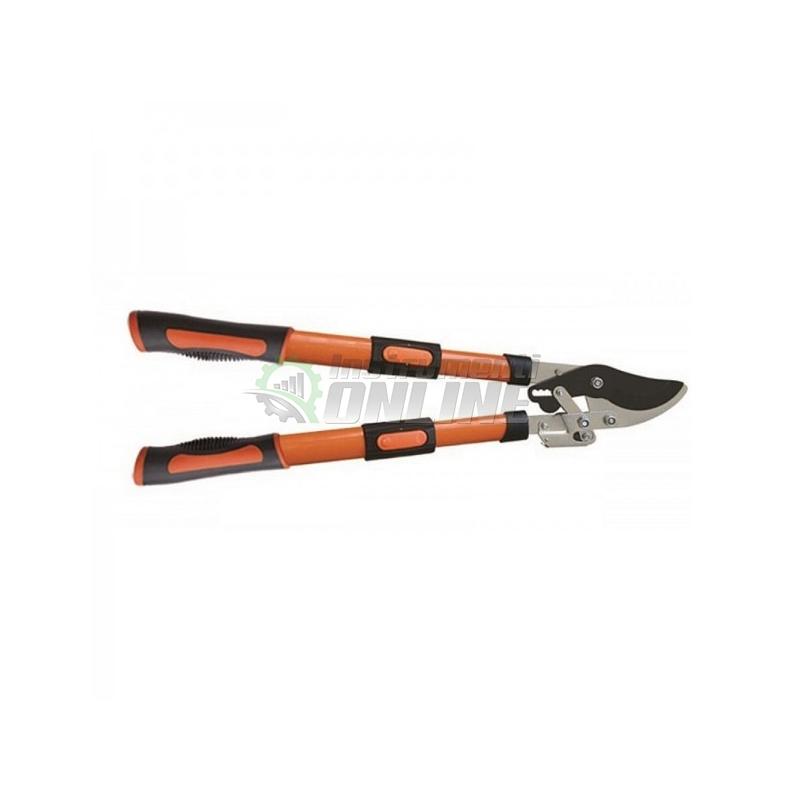 градинска ножица, овощарска ножица, Телескопична ножица, ножица за клони, усилващ механизъм, 650 - 910 мм, Top Garden, Premium