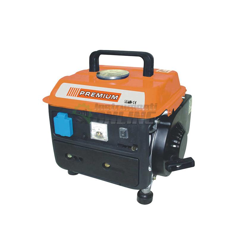Бензинов, генератор, 750W , 12V, 8A, Premium