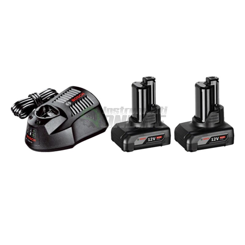 К-кт Bosch, акумулаторни батерии, 12 V, 4.0 Ah O-B, 2 броя, GBA, зарядно GAL 1130 CV Professional, комплект батерии и зарядно Bosch, батерия Bosch, зарядно Bosch
