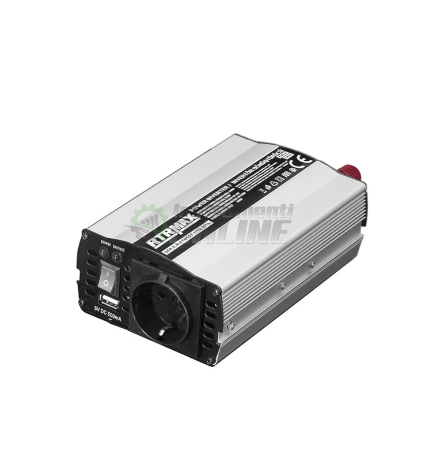 Инверторен, преобразувател на напрежение, 12 V, 350-700 W, RTR, MAX