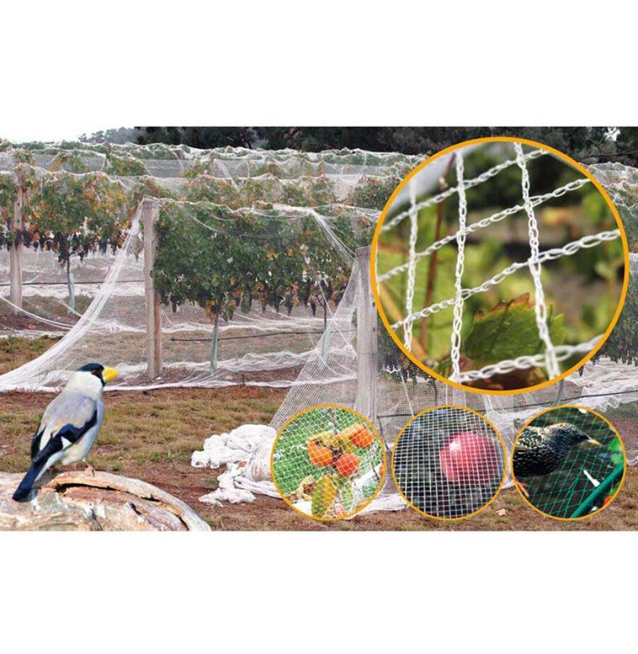 Защитна, мрежа, срещу птици, 6 х 75 метра, 20 х 20 мм, Premium
