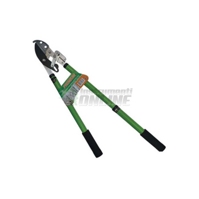 Ножица за клони, телескопични дръжки, механизъм, ножица, клони, градинска ножица, 63 - 95 см, Premium