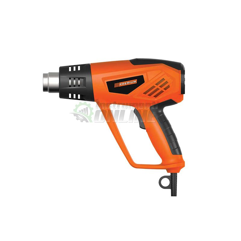 Пистолет, пистолет за горещ въздух, пистолет за въздух, накрайници, 2000 W, 2CK, LCD, Premium