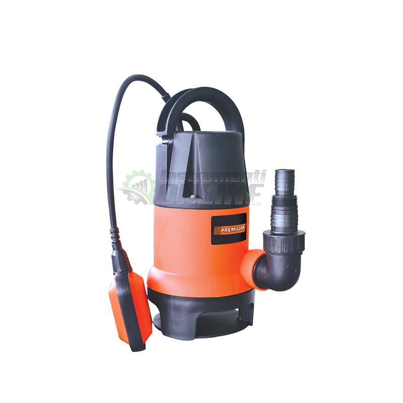 Помпа, помпа за мръсна вода, потопяема помпа, поплавък, 750 W, Premium