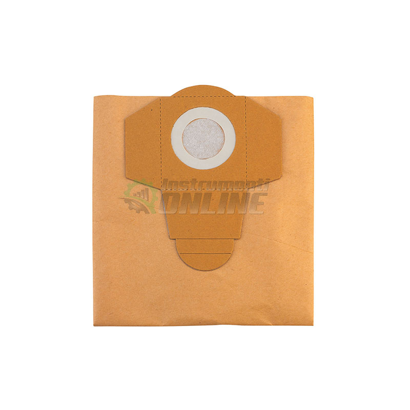 Торба за отпадъци, торби за прахосмукачка, 20 л, 5 броя, хартиена, Einhell