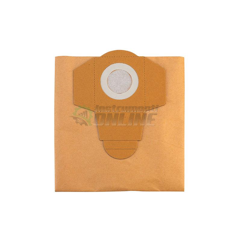 Торба за отпадъци, торби за прахосмукачка, 40 л, 5 броя, хартиена, Einhell