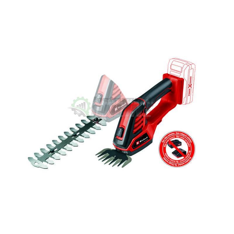 Акумулаторна, ножица за трева, ножица за храсти, GE-CG 18/100 LI, Einhell