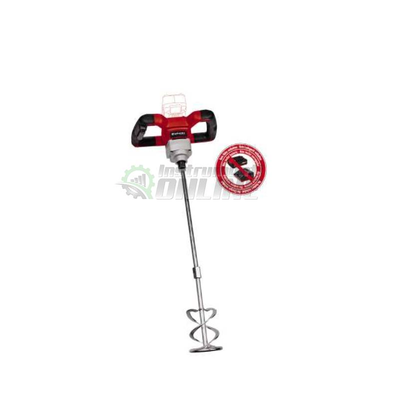 Миксер, акумулаторен, за бои, разтвори, TE-MX 18 Li - Solo, 18 V, Einhell