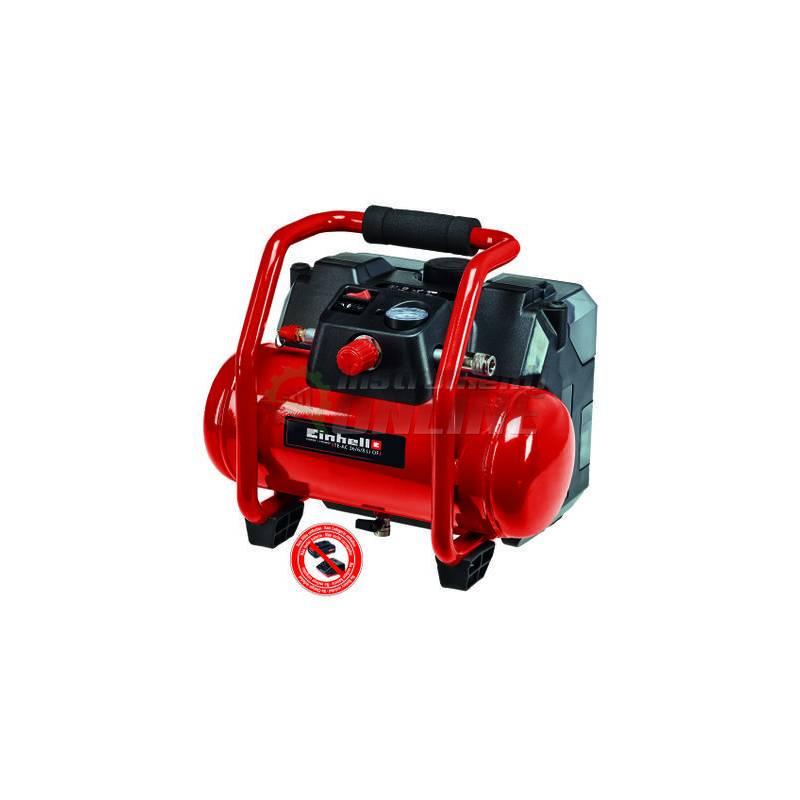 Акумулаторен, безмаслен, компресор за въздух, 36 V, 130 л, 6 л, 8 бара, TE-AC 36/6/8 Li, OF Set, Solo, Power X-Change, Einhell