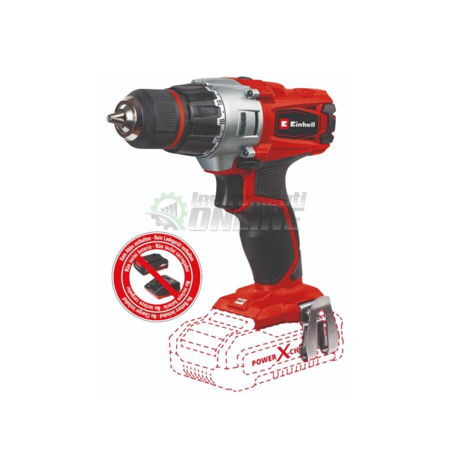 Акумулаторен винтоверт, 18 V, 44 Nm, 2 степени, без батерия и зарядно, TE-CD 18/2 Li, SOLO, Power X-Change, Einhell