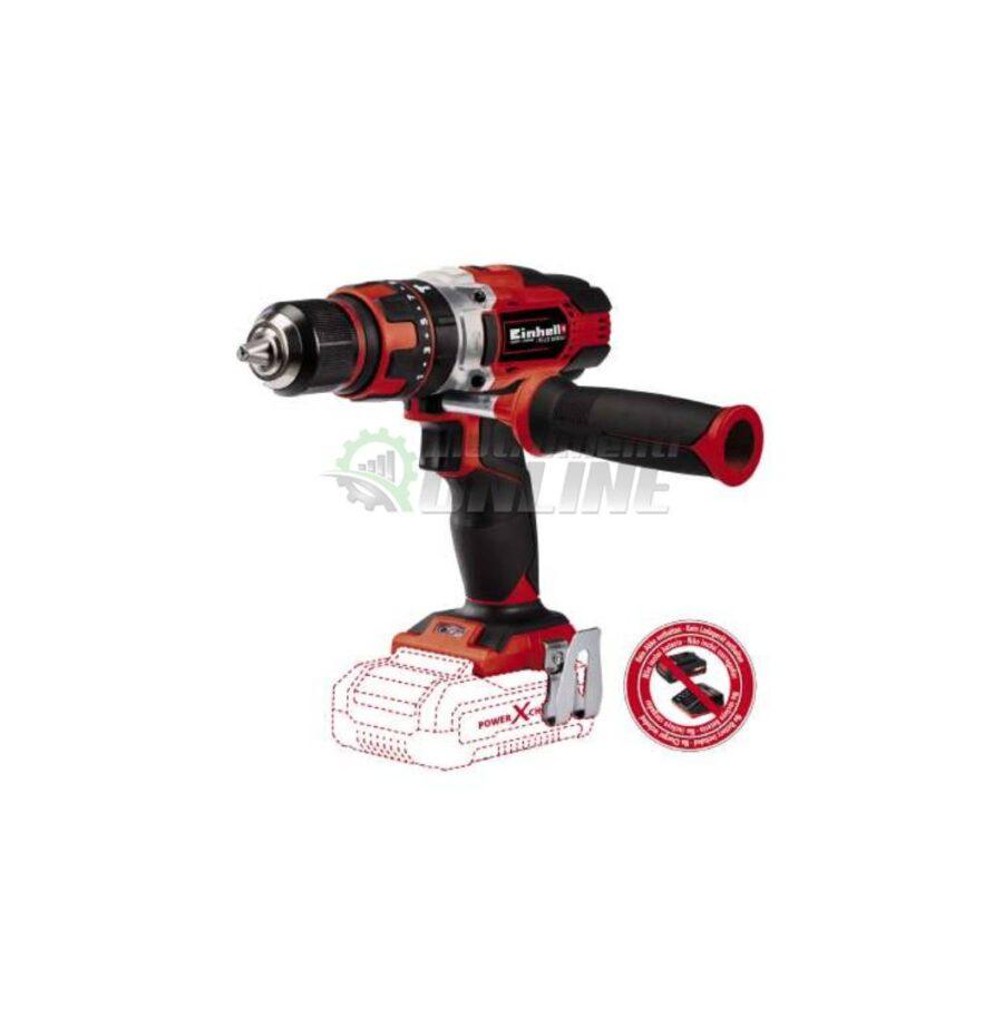 Aкумулаторна, ударна, бормашина, 18 V, 48 Nm, 0-400/ 0-1500 rpm, без батерия и зарядно, TE-CD 18/48 Li-i, Solo, Power X-Change, Einhell