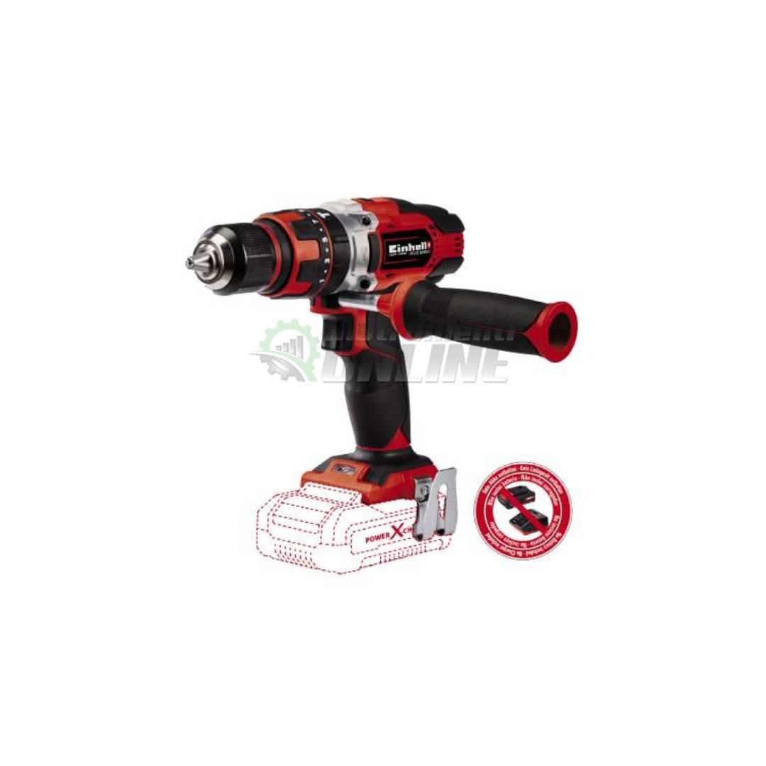 Aкумулаторна ударна бормашина / 18 V, 48 Nm, 0-400/ 0-1500 rpm / без батерия и зарядно TE-CD 18/48 Li-i – Solo Power X-Change Einhell